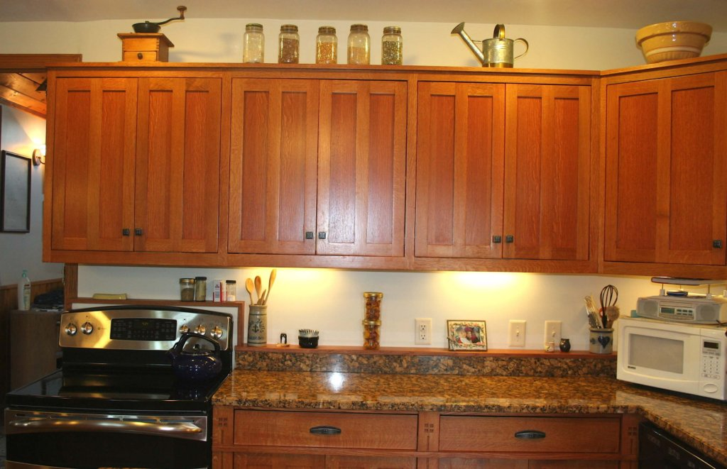kitchen cabinets with stove